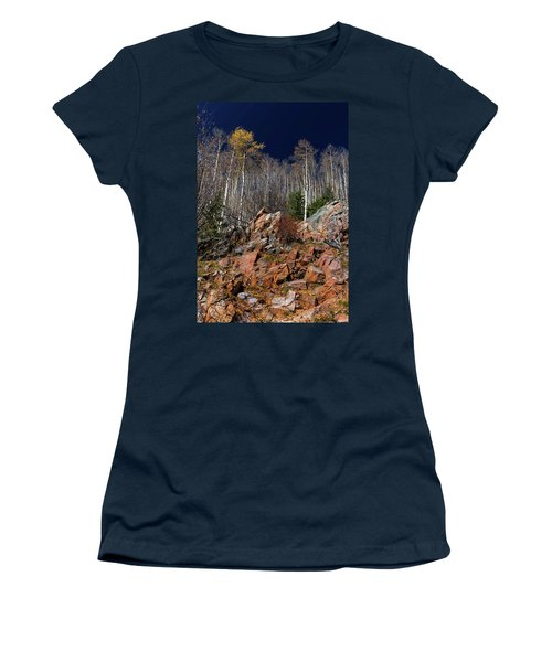 Women's T-Shirt (Junior Cut) featuring the photograph Reaching Into Blue by Stephen Anderson