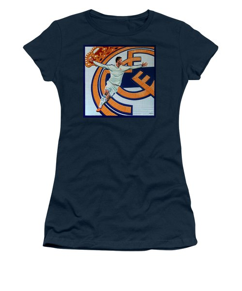 Real Madrid Painting Women's T-Shirt (Athletic Fit)