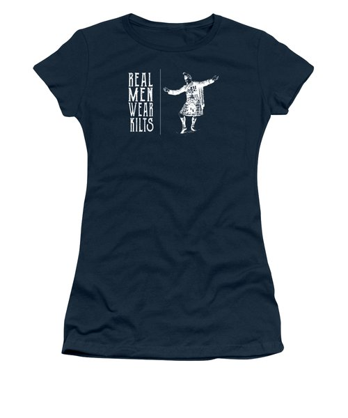 Women's T-Shirt (Junior Cut) featuring the digital art Real Men Wear Kilts by Heather Applegate