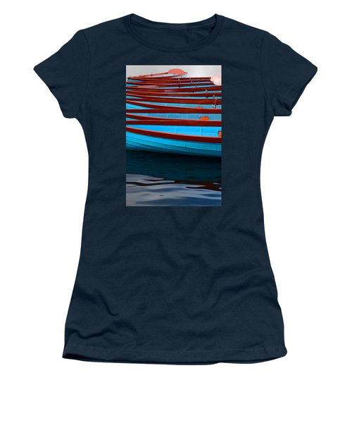 Red And Blue Paddle Boats Women's T-Shirt
