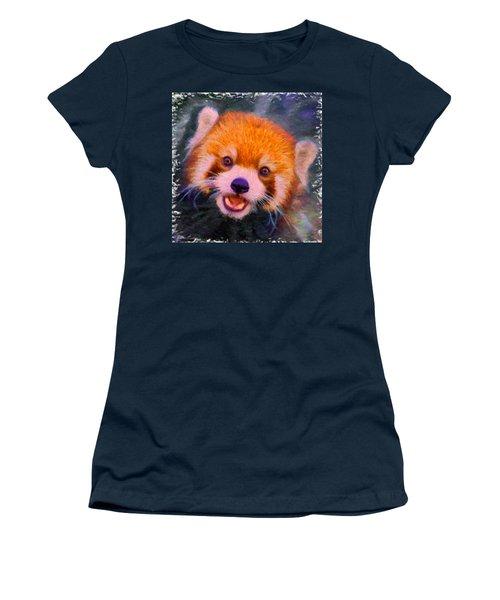 Red Panda Cub Women's T-Shirt (Athletic Fit)