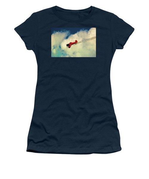 Red Sky Writer Women's T-Shirt (Junior Cut) by Trey Foerster