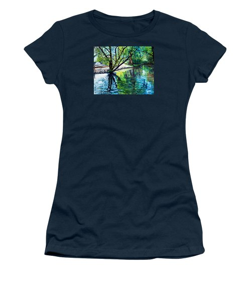 Trees Reflections Women's T-Shirt (Athletic Fit)