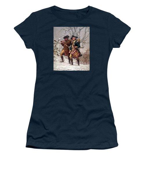 Revolutionary War Soldiers Marching Women's T-Shirt