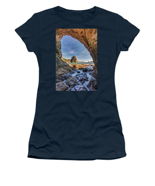Rialto Beach Sea Arch Women's T-Shirt (Junior Cut) by Pierre Leclerc Photography