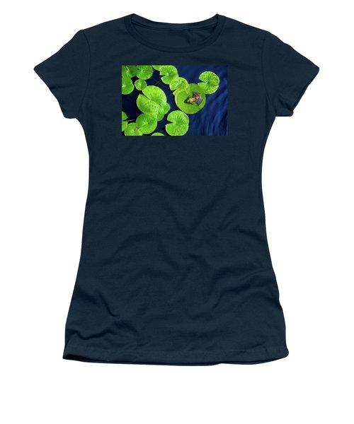 Women's T-Shirt (Junior Cut) featuring the photograph Ribbit by Greg Fortier