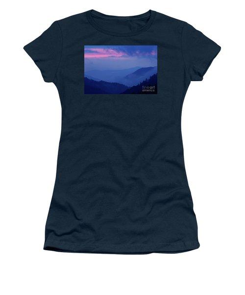 Women's T-Shirt (Junior Cut) featuring the photograph Ridges - D000023 by Daniel Dempster