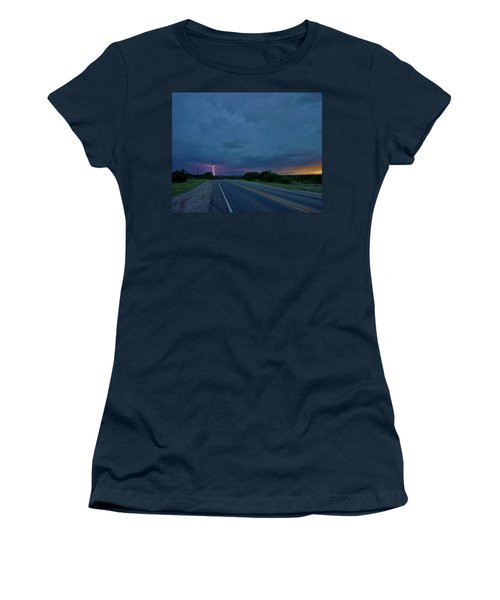 Road To The Storm Women's T-Shirt (Junior Cut) by Ed Sweeney
