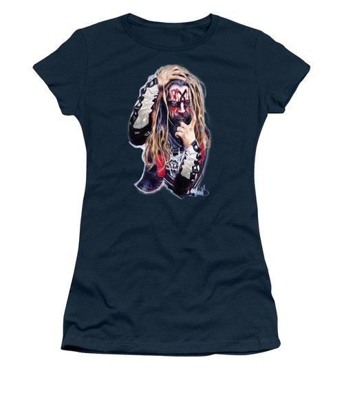 Rob Zombie Women's T-Shirt (Junior Cut) by Melanie D