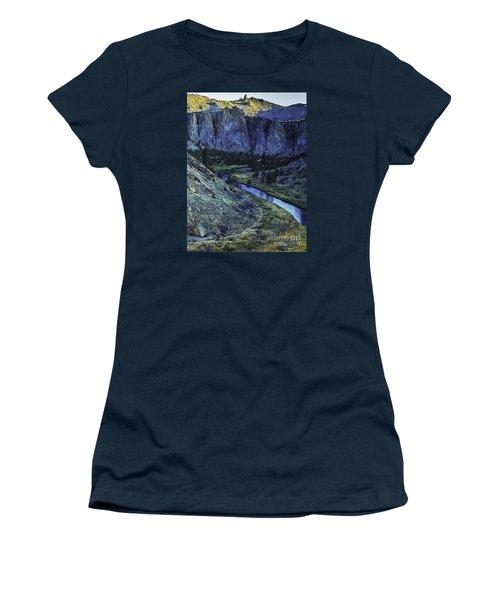 Rock Climbing Mecca Women's T-Shirt (Junior Cut) by Nancy Marie Ricketts