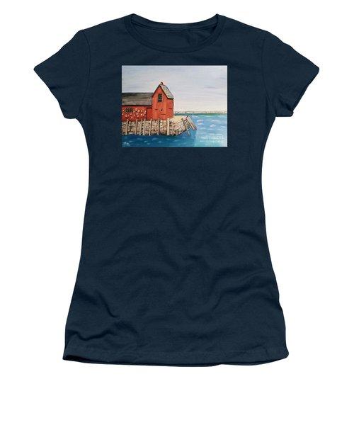 Rockport Motif In Winter Women's T-Shirt