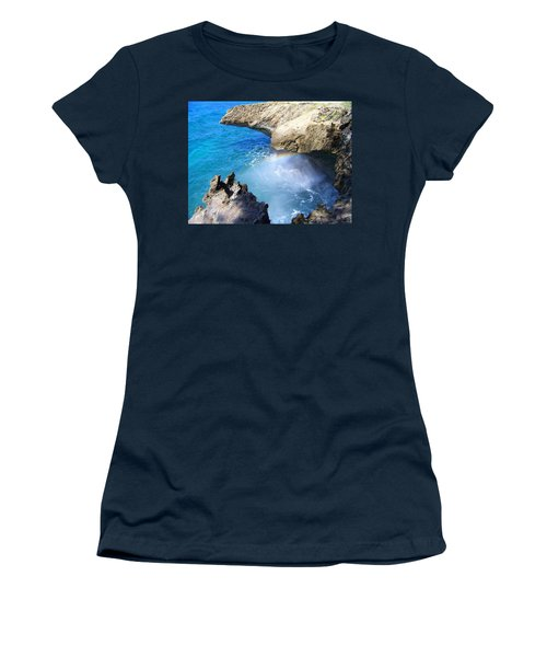 Rocks And Rainbow Women's T-Shirt (Athletic Fit)