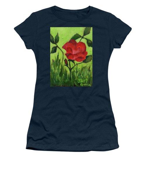 Rose Women's T-Shirt (Junior Cut) by Janet Garcia