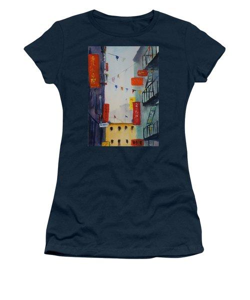 Ross Alley1 Women's T-Shirt (Junior Cut) by Tom Simmons