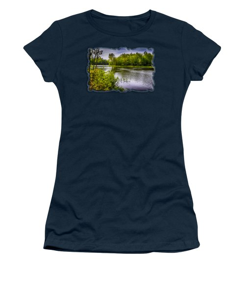 Women's T-Shirt (Junior Cut) featuring the photograph Round The Bend In Oil 36 by Mark Myhaver
