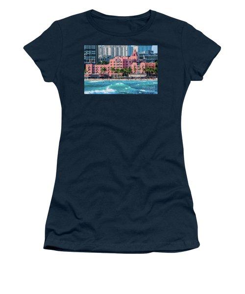 Royal Hawaiian Hotel Surfs Up Women's T-Shirt (Junior Cut) by Aloha Art