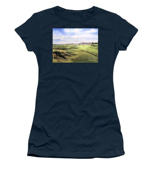 Royal Troon Golf Course Women's T-Shirt (Junior Cut) by Bill Holkham