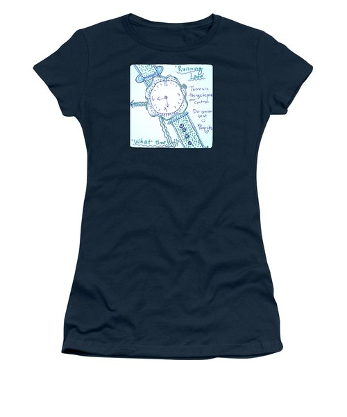On Time Women's T-Shirt (Junior Cut) by Carole Brecht