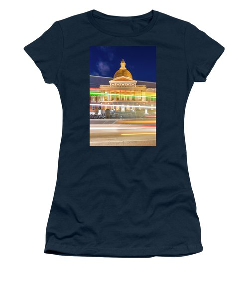 Rush Hour In Front Of The Massachusetts Statehouse Women's T-Shirt
