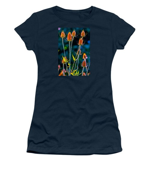 Women's T-Shirt (Junior Cut) featuring the photograph Rustic Weeds 2 by Brian Stevens