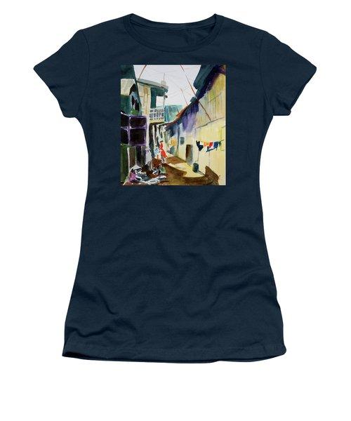 Saigon Alley Women's T-Shirt (Junior Cut) by Tom Simmons