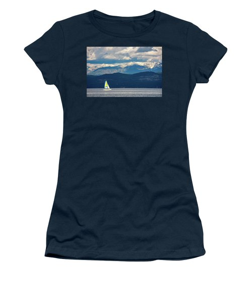 Sailing Flathead Lake Women's T-Shirt