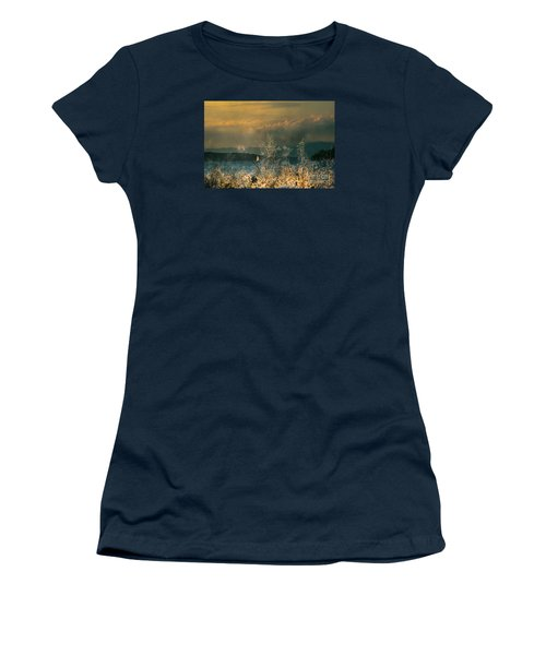 Women's T-Shirt (Junior Cut) featuring the photograph Sailing On The Winnipesaukee by Mim White