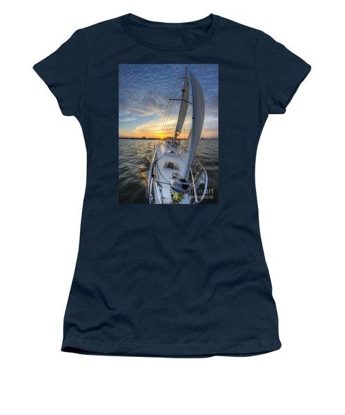 Sailing Sunset Sailboat Fate Charleston  Women's T-Shirt