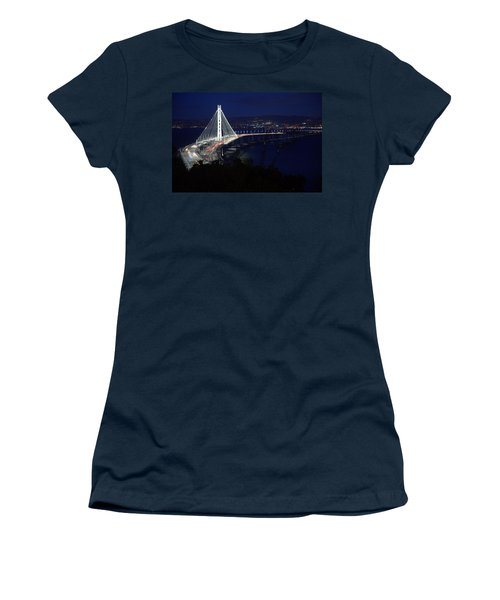 Women's T-Shirt featuring the photograph San Francisco Oakland Bay Bridge by John King