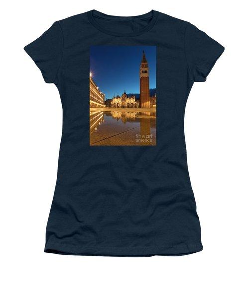 Women's T-Shirt (Junior Cut) featuring the photograph San Marco Twilight by Brian Jannsen