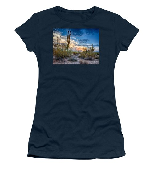 San Tan Mountain Park Sunset Women's T-Shirt (Athletic Fit)