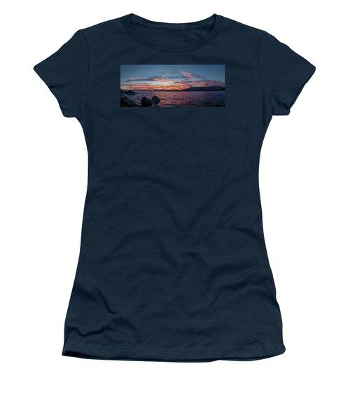 Sand Harbor Sunset Pano2 Women's T-Shirt