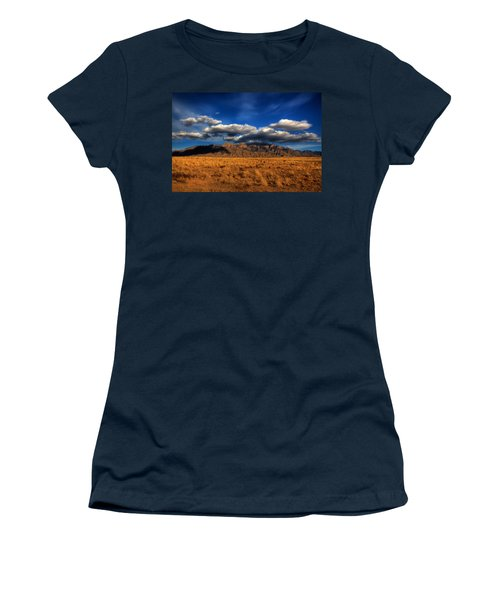 Sandia Crest In Late Afternoon Light Women's T-Shirt (Junior Cut) by Alan Vance Ley