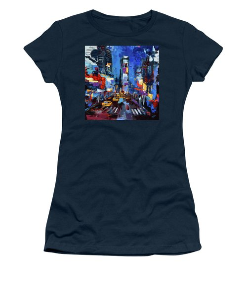 Saturday Night In Times Square Women's T-Shirt (Athletic Fit)