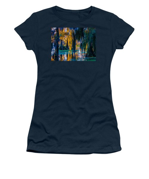 Scary Swamp In The Daytime Women's T-Shirt (Junior Cut) by Kimo Fernandez