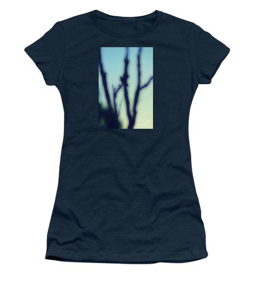 Women's T-Shirt (Junior Cut) featuring the photograph Scrub Silhouette by Cassandra Buckley