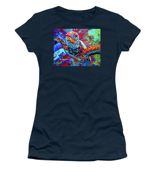 Sea Turtle Women's T-Shirt (Junior Cut) by Maria Arango