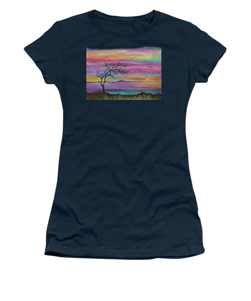 Serene Sunset Women's T-Shirt (Athletic Fit)