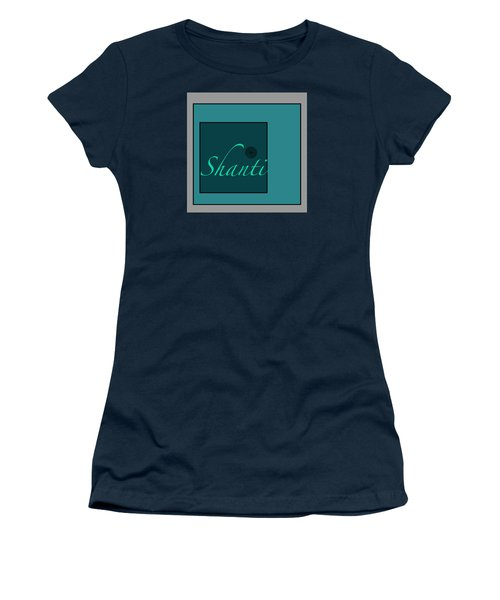 Shanti In Blue Women's T-Shirt (Athletic Fit)