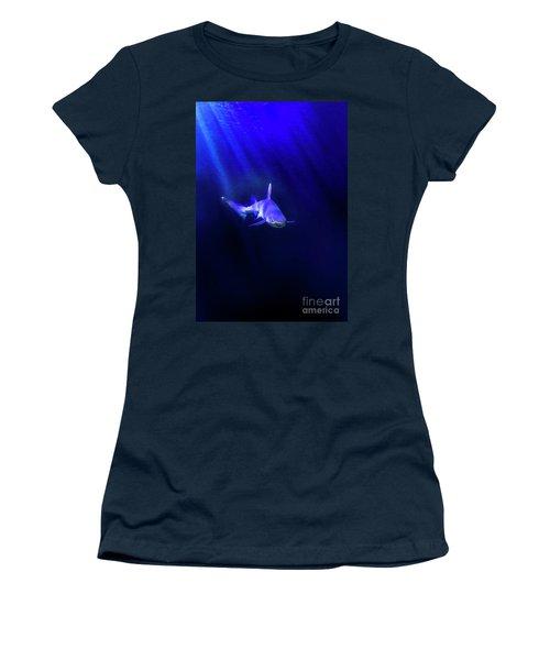 Women's T-Shirt (Junior Cut) featuring the photograph Shark by Jill Battaglia