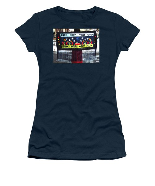 Women's T-Shirt (Athletic Fit) featuring the tapestry - textile Shawl - Lost Birds Return by Chholing Taha