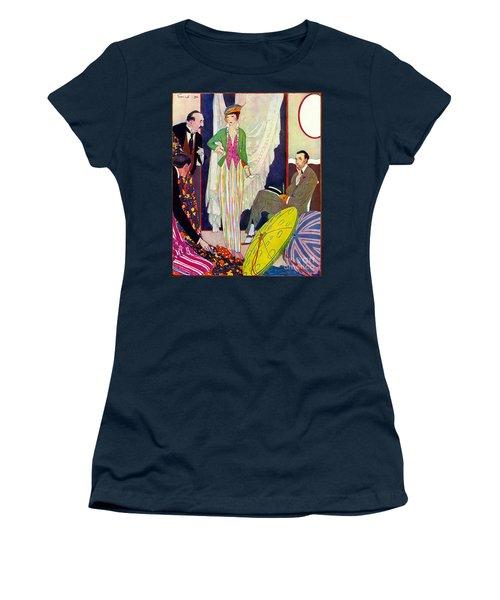 Women's T-Shirt (Junior Cut) featuring the photograph Shopping 1914 by Padre Art