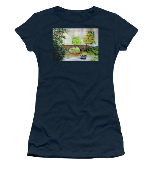 Shortcut Bridge Women's T-Shirt (Junior Cut) by Jack G Brauer