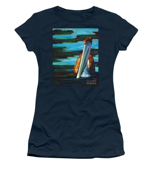 Women's T-Shirt (Junior Cut) featuring the painting Shy Brownie by Suzanne McKee