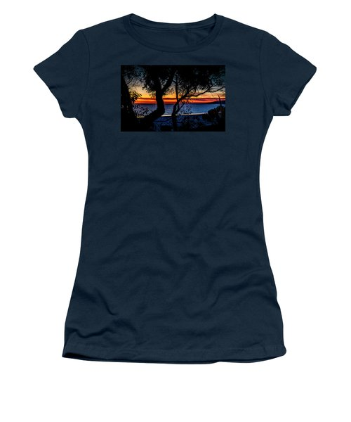 Silhouettes Over Blue Water Women's T-Shirt