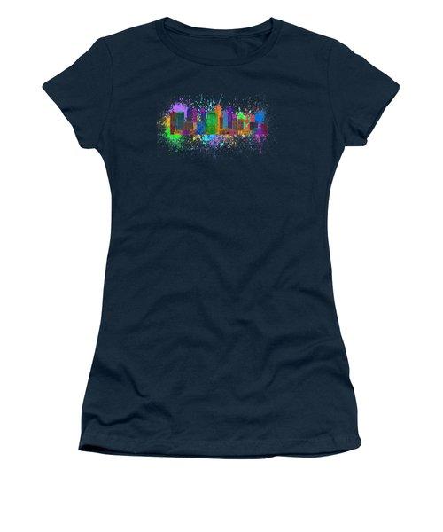 Singapore Skyline Paint Splatter Illustration Women's T-Shirt