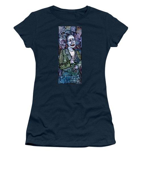 Singing Lady-blues Women's T-Shirt