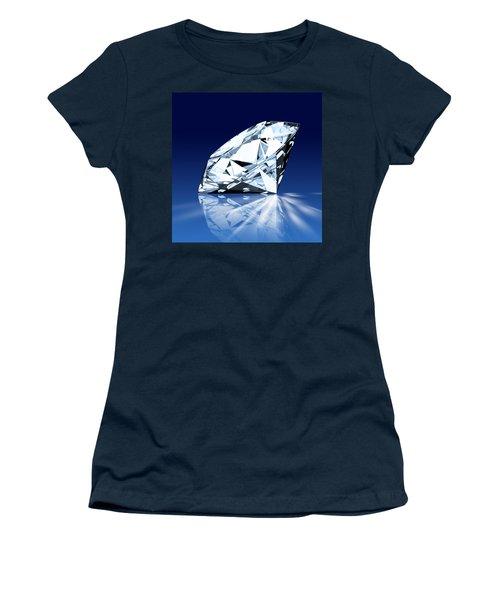 Single Blue Diamond Women's T-Shirt (Athletic Fit)