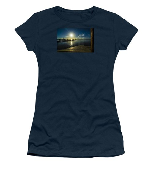 Sitting On The Dock Of The Bay Women's T-Shirt (Junior Cut) by Kevin Cable