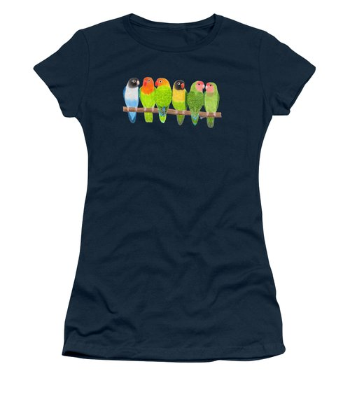 Six Lovebirds Women's T-Shirt (Athletic Fit)